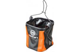 Ведро Brain EVA для набора воды мягкое без крышки ц:оранжевый/черный thumb
