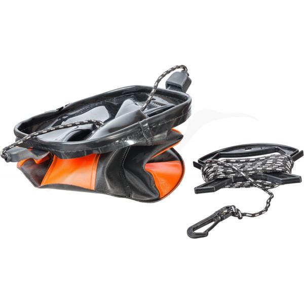 Ведро Brain EVA для набора воды мягкое без крышки ц:оранжевый/черный 0