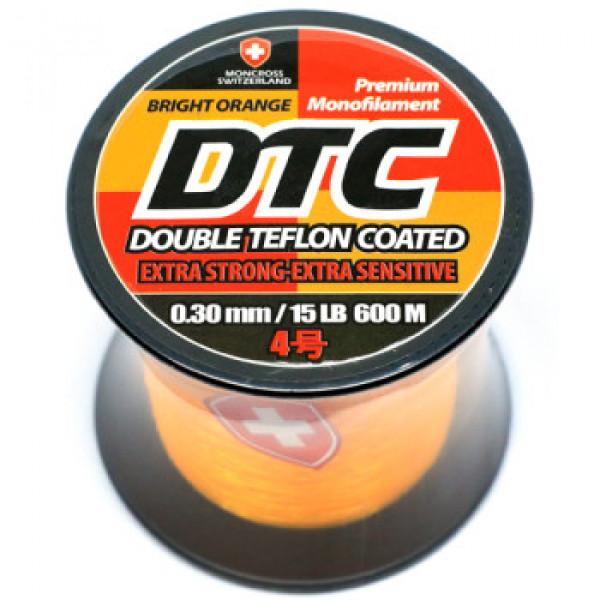 Леска Moncross DTC 600m BRIGHT ORANGE COL 0,30mm/No.4,0