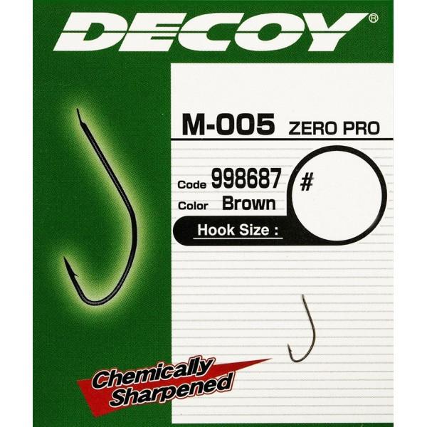 Крючок фидерный Decoy M-005 ZERO-PRO 20, 18 шт/уп