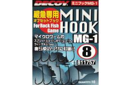 Крючок спиннинговый Decoy Mini Hook MG-1 08, 10 шт/уп thumb