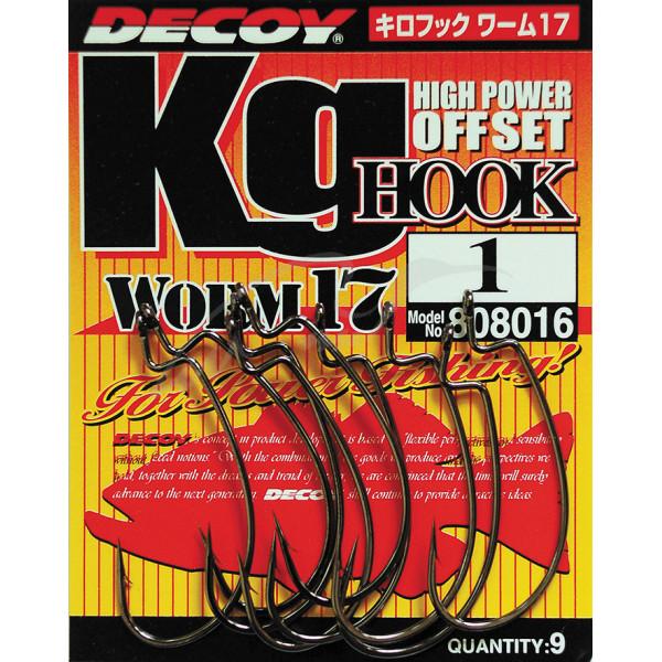 Крючок спиннинговый Decoy Worm17 Kg Hook 04, 9 шт/уп