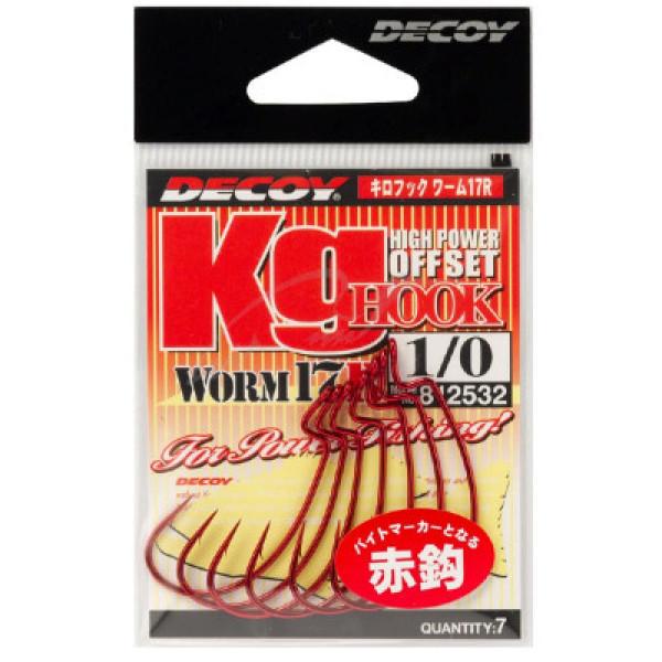 Крючок спиннинговый Decoy Worm17R Kg Hook R 4/0, 5 шт/уп