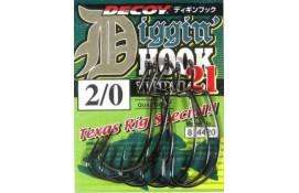 Крючок спиннинговый Decoy Worm21 Digging Hook 3/0, 6 шт/уп thumb