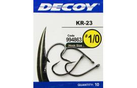 Крючок спиннинговый Decoy KR-23 Black Nickeled 1/0, 10 шт/уп thumb