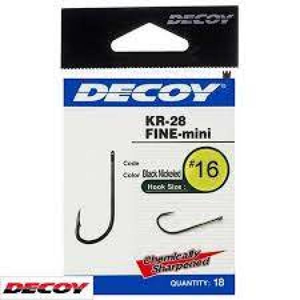 Крючок спиннинговый Decoy KR-28 Fine mini 10, 18 шт/уп