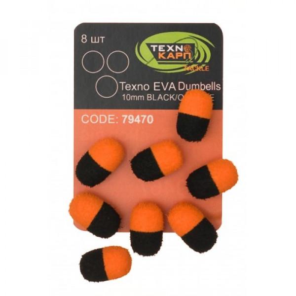 Texno EVA Dumbells 13mm*10mm black/orange