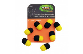 Texno EVA Dumbells 13mm*10mm black/yellow thumb