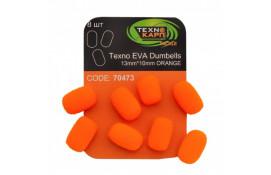 Texno EVA Dumbells 13mm*10mm orange thumb