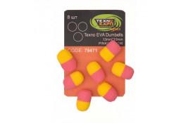 Texno EVA Dumbells 13mm*10mm pink/yellow   thumb