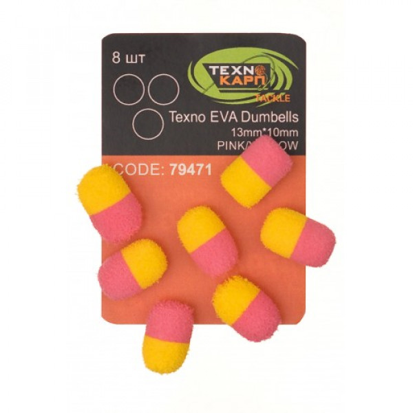 Texno EVA Dumbells 13mm*10mm pink/yellow
