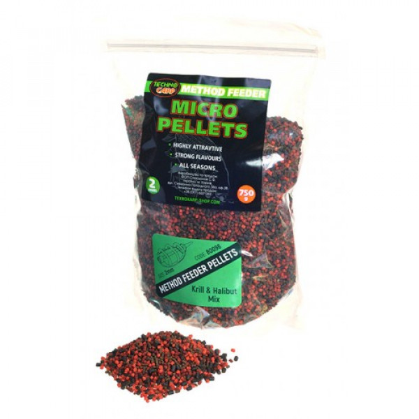 Method Feeder Technocarp Micro Pellets Krill & Halibut mix 0,75кг