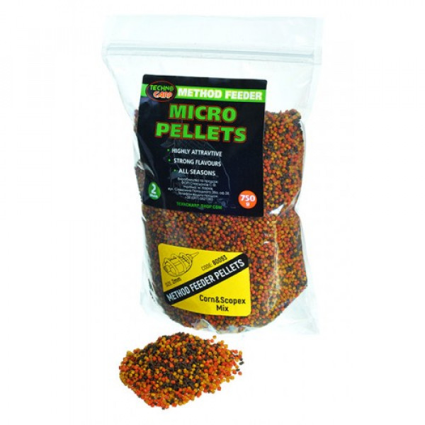 Method Feeder Technocarp Micro Pellets Corn & Scopex mix 0,75кг