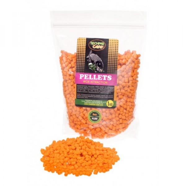 Flavored Carp Pellets Technocarp Plum d.6mm