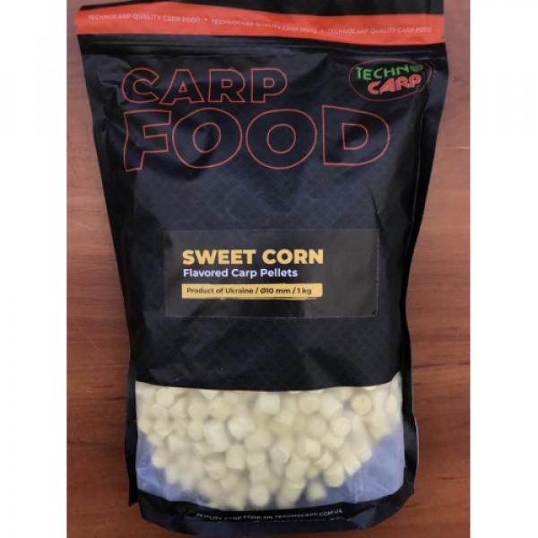 Flavored Carp Pellets Technocarp Sweetcorn NEW d.10mm