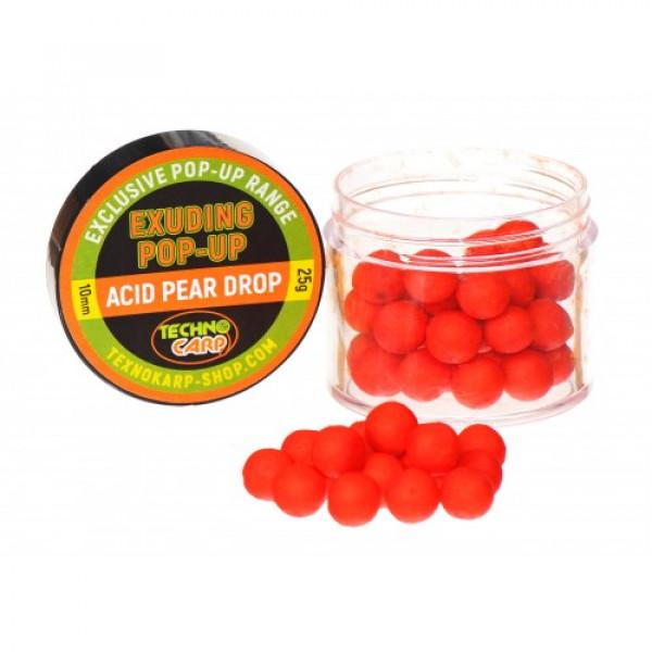 Бойлы Technocarp  Pop-Up Exuding Acid Pear Drop NEW d.10mm
