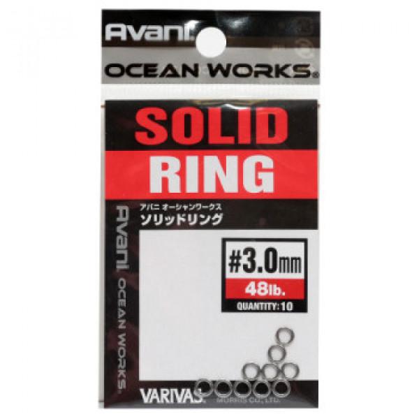Заводные кольца Varivas 16OW Solid Ring, 3,0mm 48LB