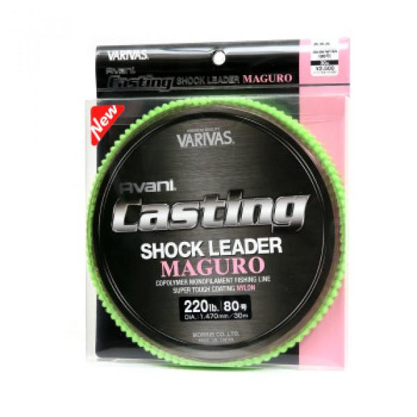 Моношоклидер Varivas Casting Shock Leader Maguro Nylon 220lb 30м 1.470mm