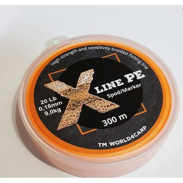 Шнур плетёный World4Carp 0,13 mm 10 lb 4,5 kg Orange 150 m